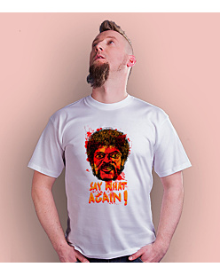 SAY WHAT AGAIN!  T-shirt męski Biały S