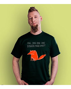The Fox sketch T-shirt męski Ciemnozielony S