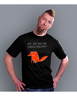 The Fox sketch T-shirt męski Czarny S