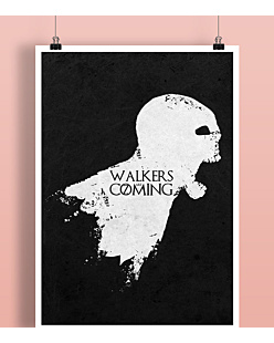 Walkers are coming Plakat Czarny A2