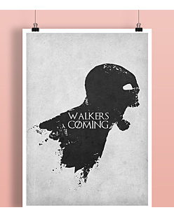 Walkers are coming Plakat Biały A2