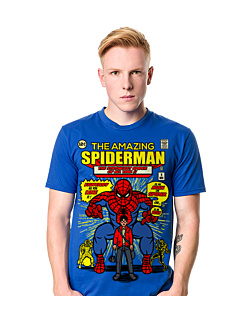 The Amazing Spiderman+ T-shirt męski Niebieski S