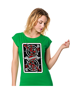 Deadpool Card+ T-shirt damski Zielony S