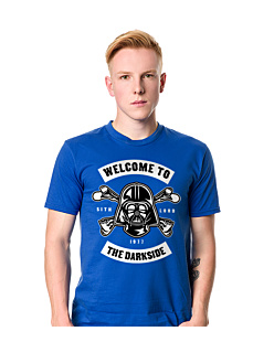 Welcome to the darkside+ T-shirt męski Niebieski S