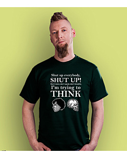Shut up everybody T-shirt męski Ciemnozielony S