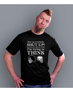 Shut up everybody T-shirt męski Czarny S