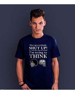 Shut up everybody T-shirt męski Granatowy S