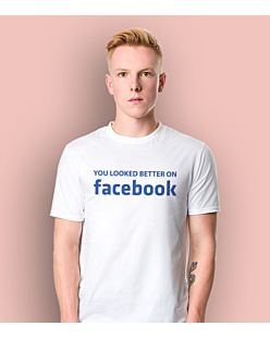 Look Better on FB T-shirt męski Biały L