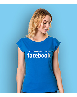 Look Better on FB T-shirt damski Niebieski XS