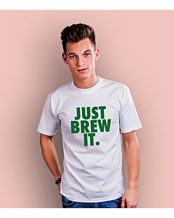 Just Brew It T-shirt męski Biały S
