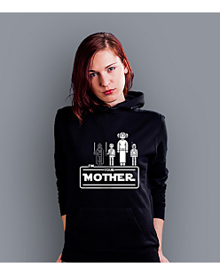 I'm your mother Damska bluza z kapturem Czarna XXL