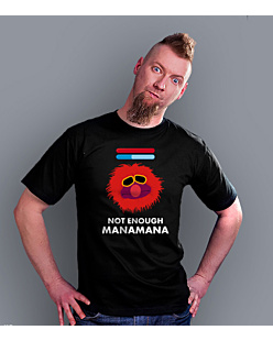 Not enough MANAMANA T-shirt męski Czarny S