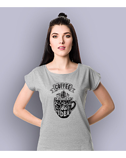 Coffee is always a Good Idea T-shirt damski Jasny melanż XS