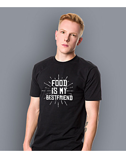 Food is my bestfriend T-shirt męski Czarny XXXXL