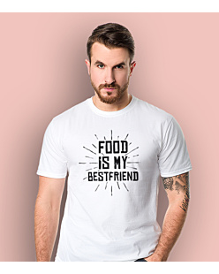 Food is my bestfriend T-shirt męski Biały XXL