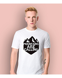 Mountains are Calling 3 T-shirt męski Biały S