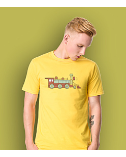 Train 10 T-shirt męski Żółty XXL