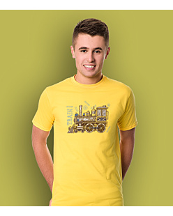 Train 8 T-shirt męski Żółty XXL