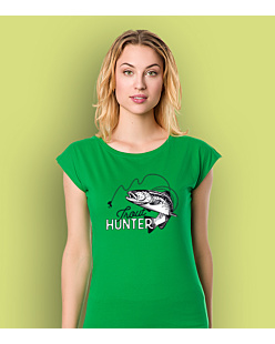 Trout Hunter T-shirt damski Zielony XS