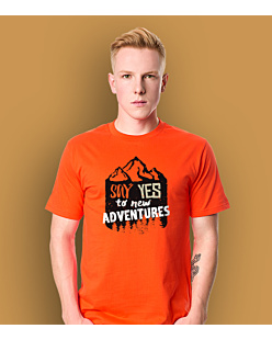 Say Yes to new Adventures T-shirt męski Pomarańczowy S