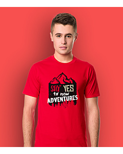 Say Yes to new Adventures T-shirt męski Czerwony S