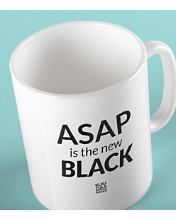 ASAP is the new BLACK Kubek Biały Universal
