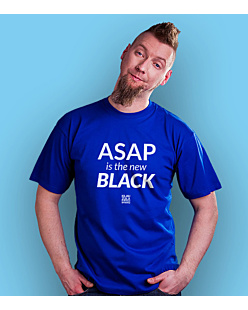 ASAP is the new BLACK T-shirt męski Niebieski S