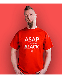 ASAP is the new BLACK T-shirt męski Czerwony S