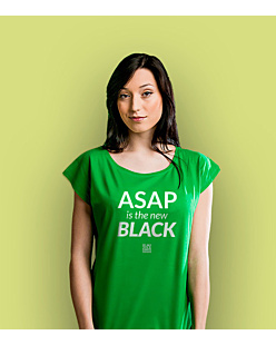 ASAP is the new BLACK T-shirt damski Zielony XS