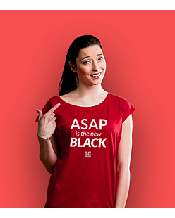 ASAP is the new BLACK T-shirt damski Czerwony XS