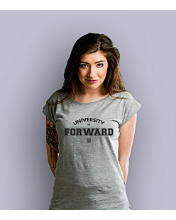 University of Forward T-shirt damski Jasny melanż S