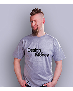 Design for money T-shirt męski Jasny melanż S