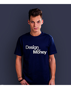 Design for money T-shirt męski Granatowy S