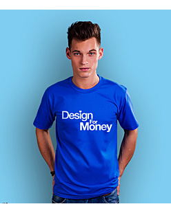 Design for money T-shirt męski Niebieski S