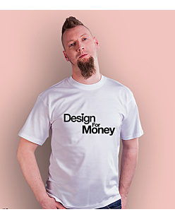 Design for money T-shirt męski Biały S