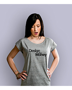Design for money T-shirt damski Jasny melanż XS