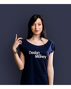 Design for money T-shirt damski Granatowy XXL