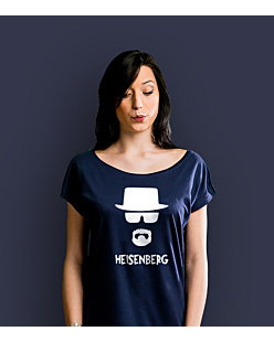 Breaking Bad Heisenberg T-shirt damski Granatowy XS