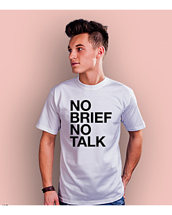 No brief no talk T-shirt męski Biały S