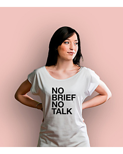 No brief no talk T-shirt damski Biały XS