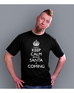 KC Santa is Coming T-shirt męski Czarny S