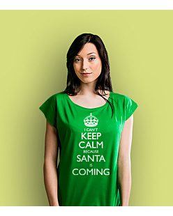 KC Santa is Coming T-shirt damski Zielony XS