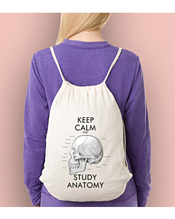 Keep Calm and Study Anatomy Worko-plecak Biały Universal