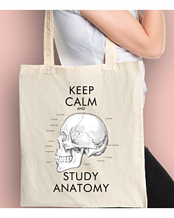Keep Calm and Study Anatomy Torba na zakupy Naturalna Universal