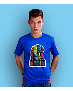 Chill Your Brain T-shirt męski Niebieski S