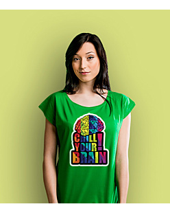 Chill Your Brain T-shirt damski Zielony XS