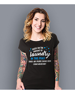 Amount of Laundry T-shirt damski Czarny XXL