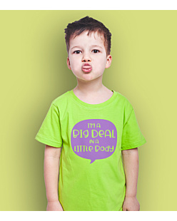 Big deal little body T-shirt dziecięcy Zielony 146