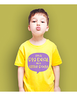 Big deal little body T-shirt dziecięcy Żółty 110