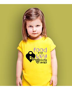 Food is the key T-shirt dziecięcy Żółty 110